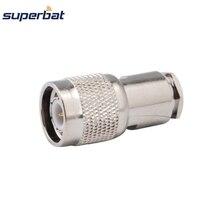 Superbat 10 шт. радиочастотный разъем TNC зажим штекер для коаксиального кабеля RG58, RG142, LMR195