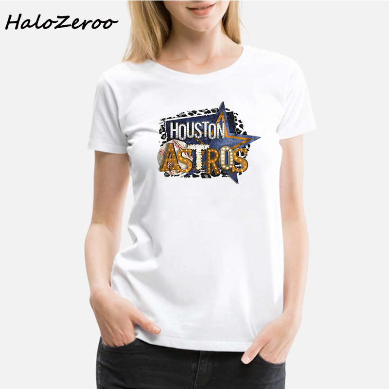 Fashion Astros Baseball Tee Womens Shirt Houston MLB T Women Tees Fan Gift