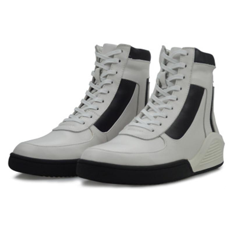 Chaussures Cheville Casual 2 3 5 7 Adulte Zip 4 1 Fleur En Mélangées Appartements Véritable Bottes Formateurs Cuir 6 8 Hommes Mâle Couleurs Printemps Noir Baskets Hiver 80wNnm