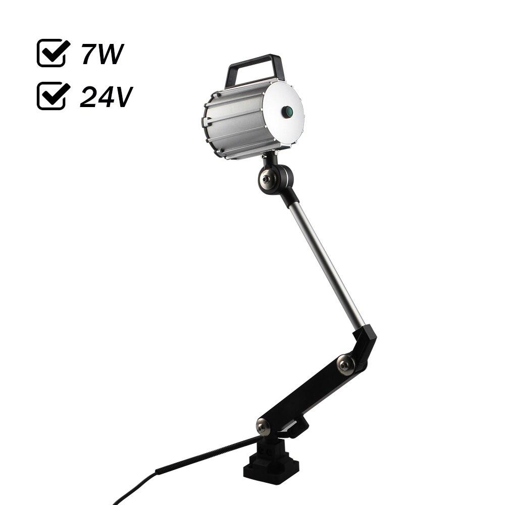 7 Вт 24 В dc светодиодный пятно света Водонепроницаемый IP67 ЧПУ Инструмент Рабочая лампа длинные поворота руки анти машинного масла освещения