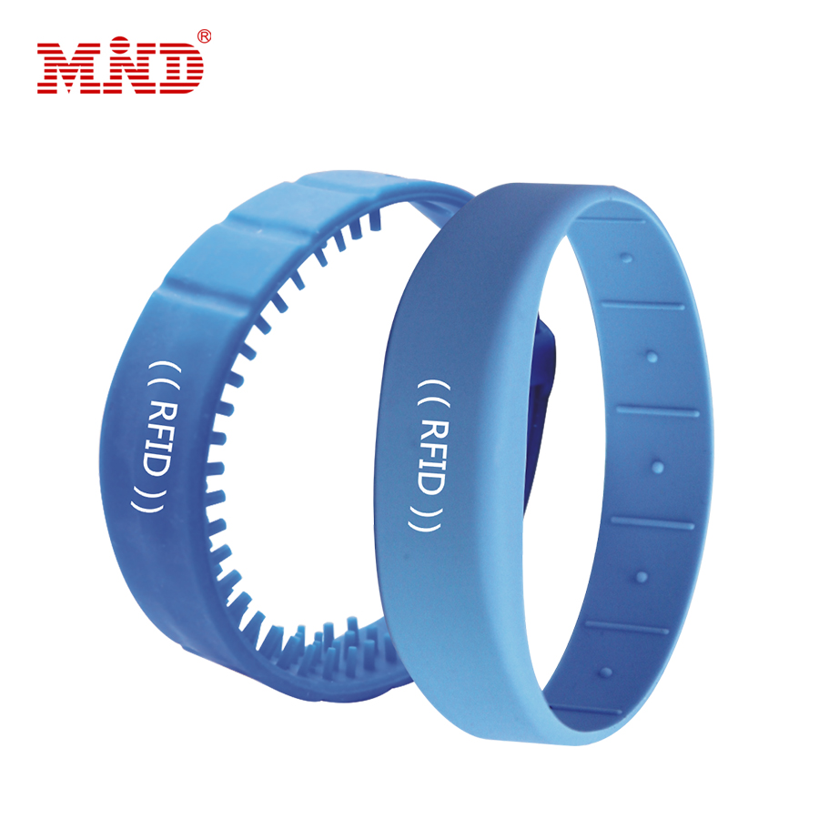 Genteel 5pcs/lot 13.56mhz Rfid Wristband Silicone Electronic Bracelets Wristband Nfc Smart Rfid Silicone Wristband With S50 Chip High Quality Access Control