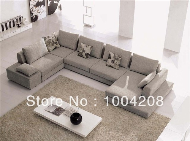 Style moderne canap d 39 angle canap en tissu mobilier de for Salon d angle moderne