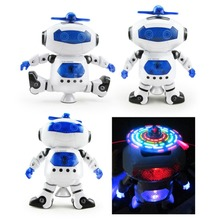 Eléctrica Inteligente Espacio Para Caminar Dancing Robot Niños Niños Música Ligera Juguetes Toy niños Regalos Envío Gratis