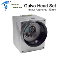 DRAGON DIAMOND 1064nm Fiber Laser Scanning Galvo Head Input Aperture10mm Galvanometer Scanner with Power Supply Set