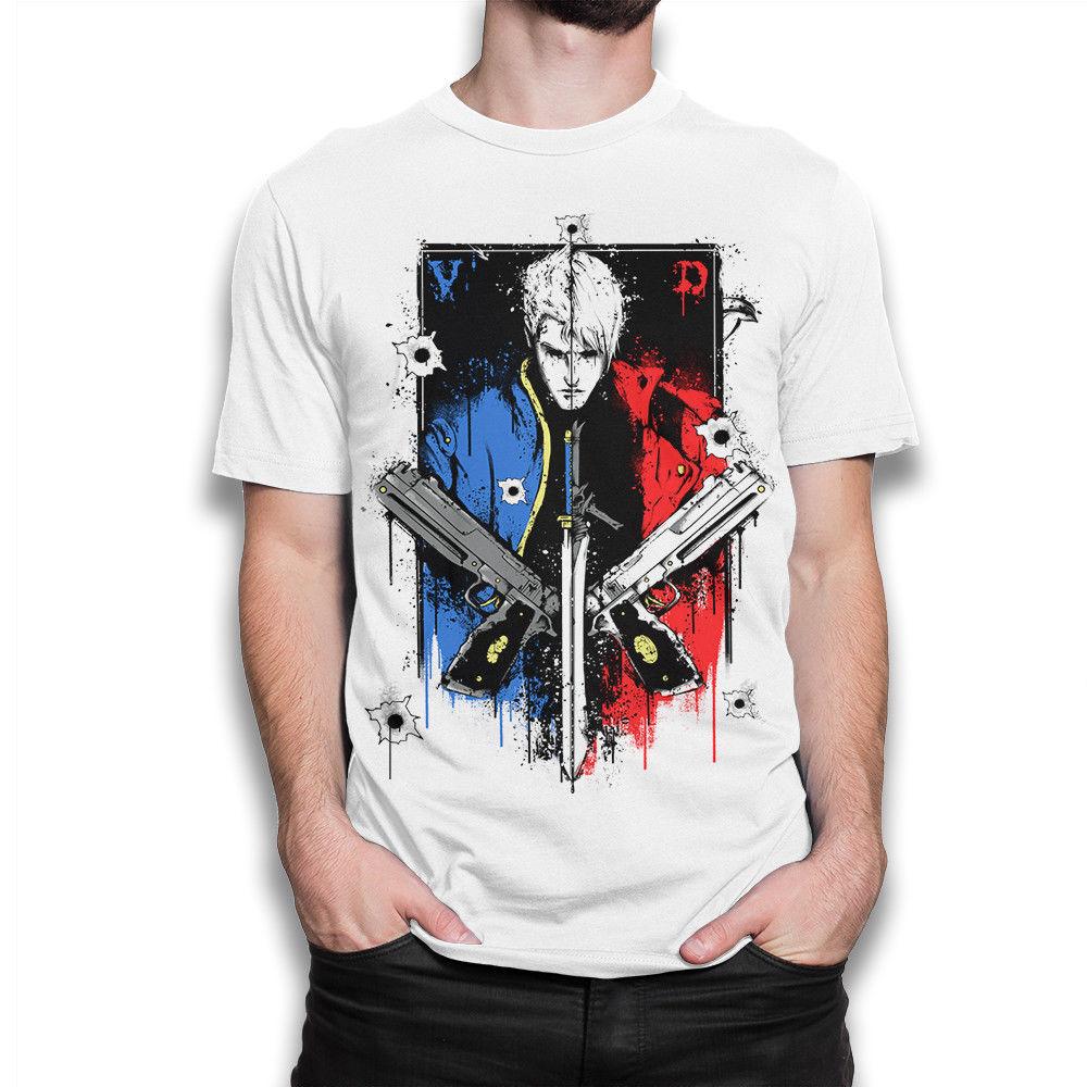 Devil May Cry T-shirt, geek Tee, Men's Women's All Sizes   Cartoon t shirt men Unisex New Fashion tshirt free shipping funny