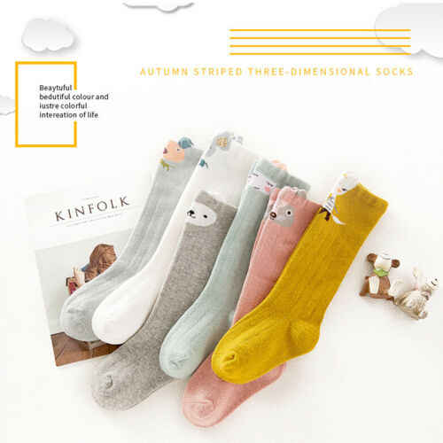 Lovely Cute Cartoon Fox Kids baby Socks Knee Girl Boy Baby Toddler Socks animal infant Soft Cotton socks 0-3 Y
