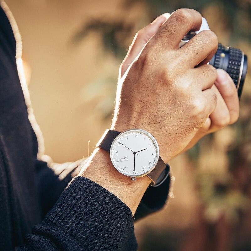 Bestdon Mode Lederen Horloge Voor Mannen Luxe Casual Horloge Zwitserland Top Merk Quartz Horloge Dropshipping 2019-in Quartz Horloges van Horloges op  Groep 2