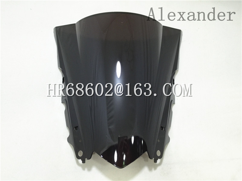HotSale For Yamaha YZF R25 R3 2013 2014 2015 2016 2017 2018 Black Windshield WindScreen Double Bubble R 25 3 13 14 15 16