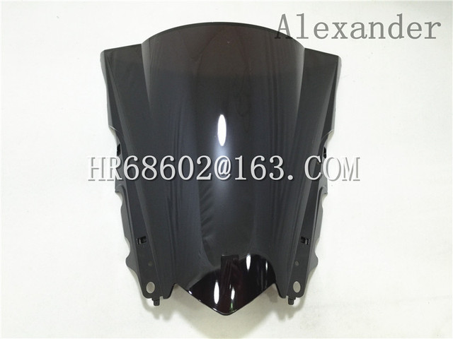 HotSale Freeshipping For Yamaha YZF R25 R3 2013 2014 2015 2016 Black Windshield WindScreen Double Bubble R 25 3 13 14 15 16