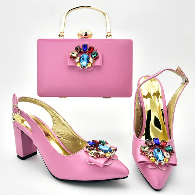 Latest African Matching Shoes and Bags Italian In Women Italian Shoes and Bags for Women Nigerian Wedding Shoes and Bag Sets