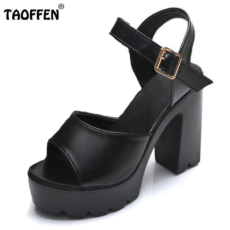 Summer Women High Heels Sandals Ankle Strap Thick Heel Shoes Open Toe Platform Shoes Women Fashion Classics Footwear Size 35-39 new arrival summer shoes wrap open toe fashion women ankle strap sandals thick heel platform women sandals size 34 43 pa00776