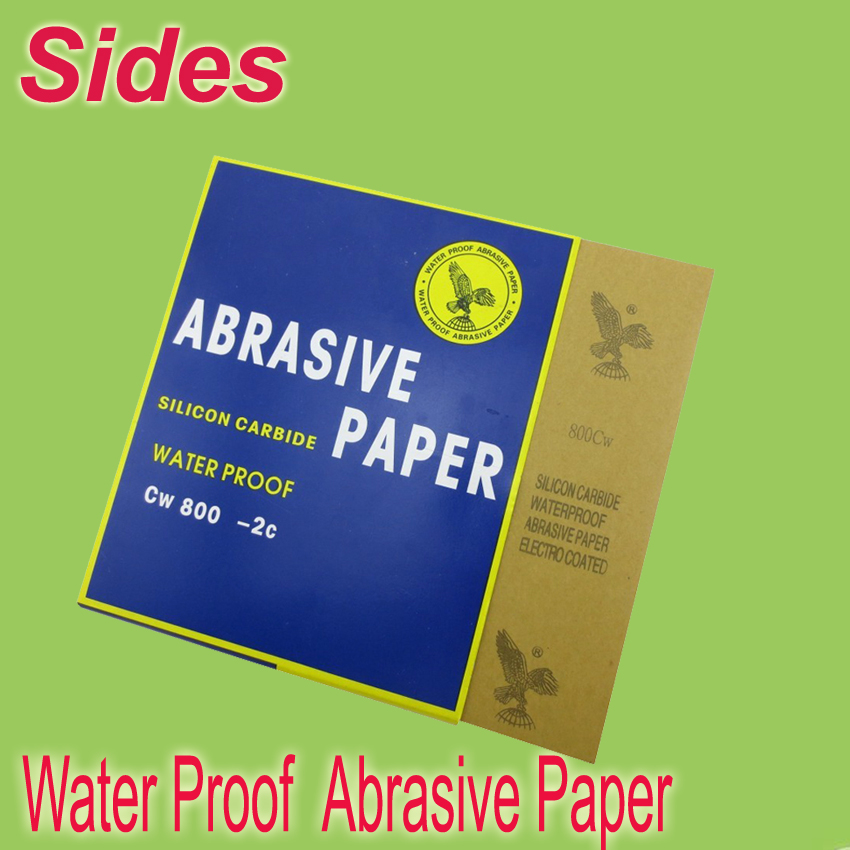 Free Shipping Waterproof Abrasive Paper Sanding Paper Grit 150# ~ 2000# Size 230*280mm For Metal ,automotive Without Pollution