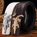 Cintos de homens 2017 Hot Moda Cós de Couro Novo Designer Famoso de Alta qualidade Do Couro genuíno Marca de luxo Cintas frete grátis