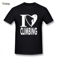 Crewneck I Love Climbing T-shirt For Man Casual Top Design Male Quality Cotton Clothes