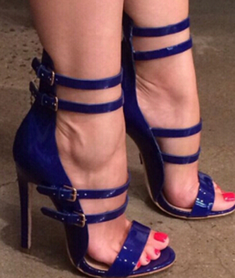 High Quality Women Fashion Strappy Patent Leather Gladiator Sandals Cut-out Ankle Strap High Heel Sandals Free Shipping high quality snake print leather cut out women sandals peep toe gladiator summer slippers lady sandals free shipping