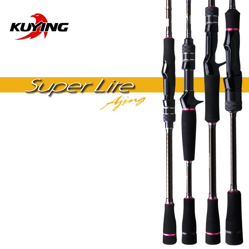 KUYING Nieuwe SUPERLITE 2.28m 7'6 2.58 m 8'6 Spinning Casting Vissen Lokken Rod Stick Cane Pole Super snelle Actie Bodem Water Vis