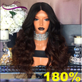 180% Ombre Colour Full Lace Human Hair Wigs For Black Women Glueless Front Lace Wigs Brazilian Wavy Lace Front Human Hair Wigs