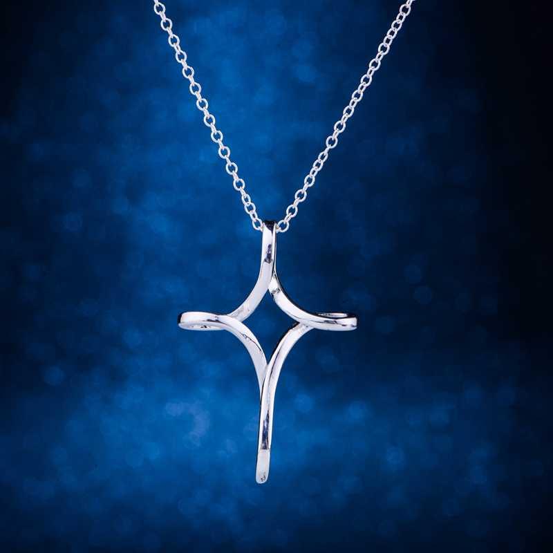 Серебряное ожерелье, посеребренные модные подвески, ювелирные изделия, сплетенные блестящие Крест/genaovua hvvaqnca LQ-P069