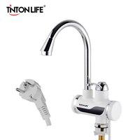 TintonLife EU Plug Tankless Instant Faucet Water Heater Instant Water Heater Tap Kitchen Hot Water Crane