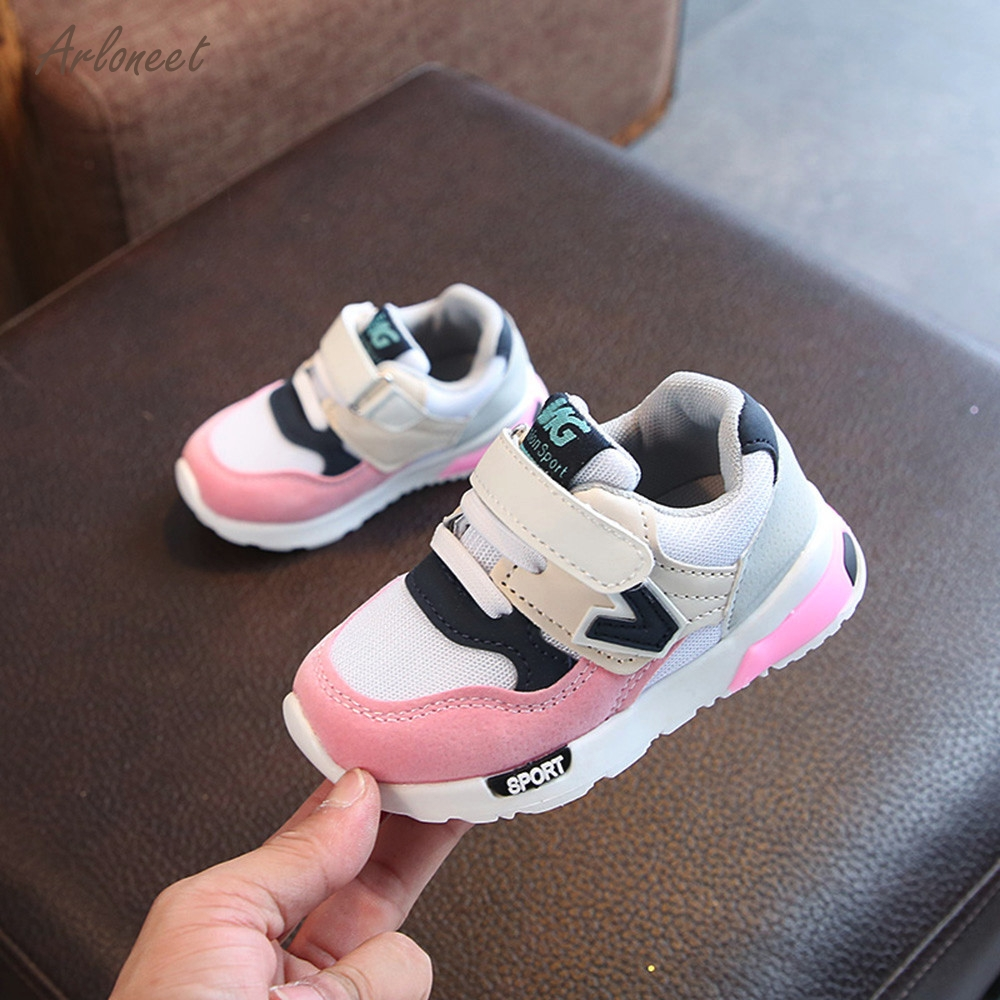 ARLONEET Shoes Sneakers Toddler Baby-Boys-Girls Mesh Children Soft Letter Running Casual