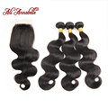 3 Bundles Malaysian Virgin Hair With Closure Ali Annabelle Hair Malaysian Body Wave With Closure Malaysian Hair With Closure