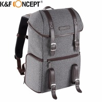 K&F Concept Waterproof Camera Backpack 14 Laptop Photograph Video Casual Bag Side Compartments with Tripod Holder Cleaning kit