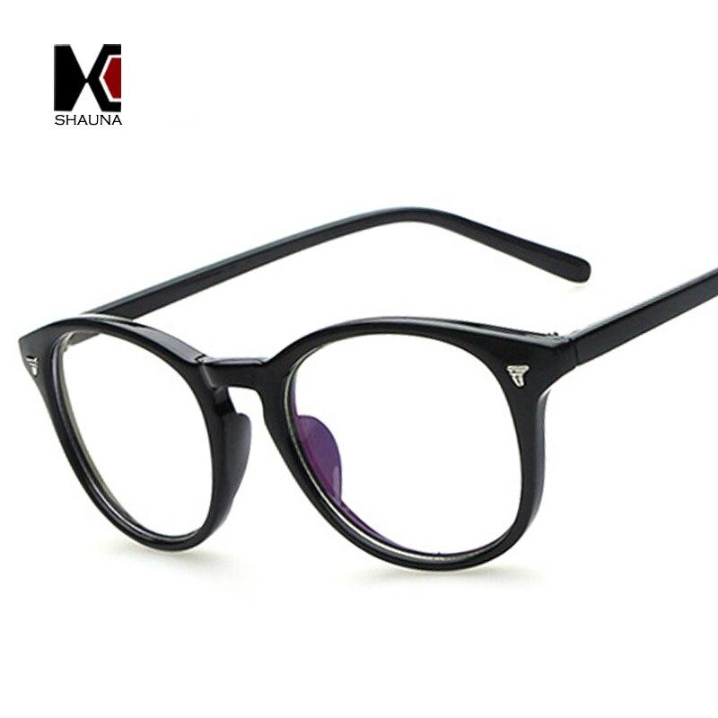 Glasses Frame Decoration : SHAUNA Classic Women Round Eyeglasses Frame Brand Designer ...