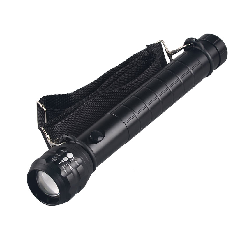 T6 Ultra Bright Handheld LED Waterproof Flashlight Tactical Flashlight with Adjustable Focus and 5 Light Modes Outdoor Water Resistant Torch Bicycle Flashlight 360/° Rotation Stand Holder Unity-Link
