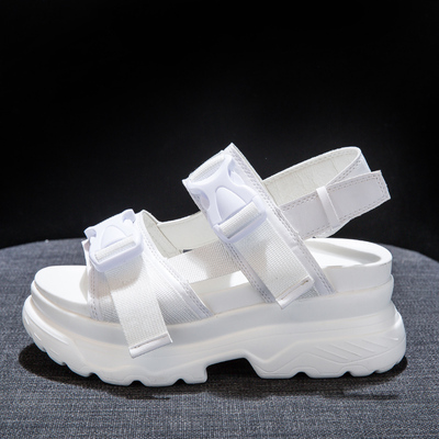 2019 summer new womens increased muffin sandals fashion comfortable sports high heel sandals.2019 summer new womens increased muffin sandals fashion comfortable sports high heel sandals.