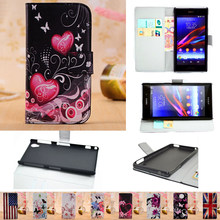 Leather Phone Case Wallet Cover For Sony Xperia Z Z1 Z2 Z4 Z3 Z5 Compact Premium X XA XP M2 M4 M5 Aqua E3 E4 E4G C3 C4 Flip Book(China)