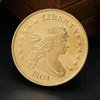 Moneda conmemorativa de plata de ley 1804 con diseño de la libertad americana, monedas conmemorativas de cobre