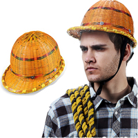 New 2019 Summer sunshade Bamboo work safety helmet site construction ventilation miner construction hat male woven safety helmet