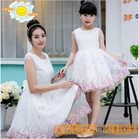 2016NEW Summer Baby Girl Dress Baby Mom Dress Mother Daaughter Dress Family Look Clothing Family Matching