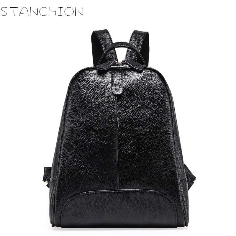 Women's Backpacks Girls Students Small Shoulder Bags Genuine Leather Women Casual Back Packs Travel Bag fashion patchwork women s genuine leather backpacks women girls students school bag small shoulder bags women vintage travel bag