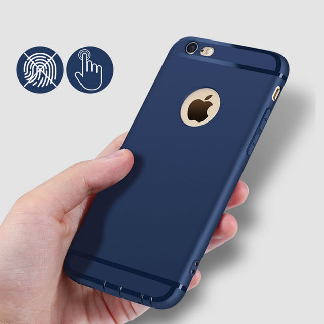 629139b2dbb052 Soft Matte Cover Case for iPhone 6 Conque iPhone 6s Plus TPU Dustproof Black  Blue Pink Red Fashion Soft Back Shell
