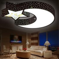 Детская комната спальня свет лампы светодиодный детская комната огни для мальчиков и девочек теплый романтический Луна потолочный светиль