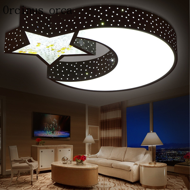 Children Room Bedroom Lamp Light Led Baby Lights Boys And S Warm Moon Ceiling
