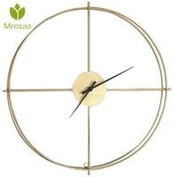 Новые 50 см большие бесшумные настенные часы современные дизайнерские часы для домашнего декора офисные Европейский стиль подвесные настен...