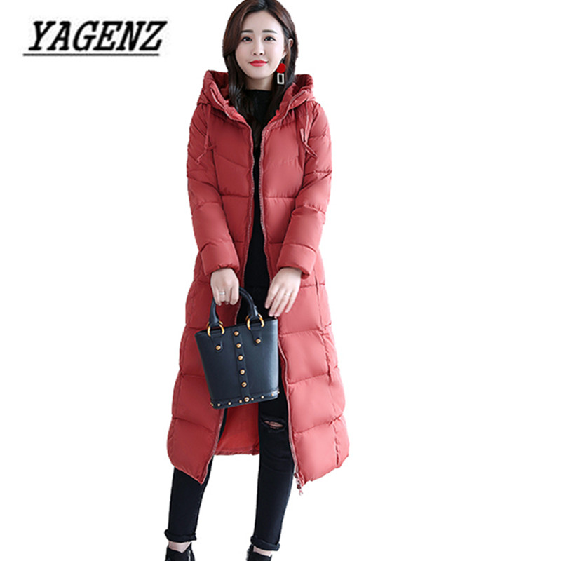 Large size Women Winter Hooded Jacket Warm Coat Slim Cotton Long Overcoat Jacket   Parka   Solid Casual Female Jacket Basic Tops 4XL
