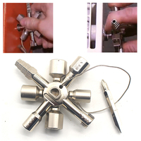 10 In 1 Multi Function Triangle Cross Nut Key For Gas Electric Meter Cabinets Radiator Locksmith