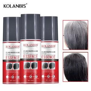 Image 2 - 3pcs Hair Oil Permanent Black Hair Serum Organic Herbal Medicine Essence Spray For White Hair Treatment White Removal Anti Gray
