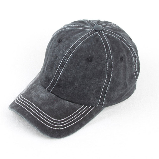 95995bb6327 Washed Dad Hat 100% Cotton 6 Panel Baseball Cap Men Women Casual Snapback  Black Khaki