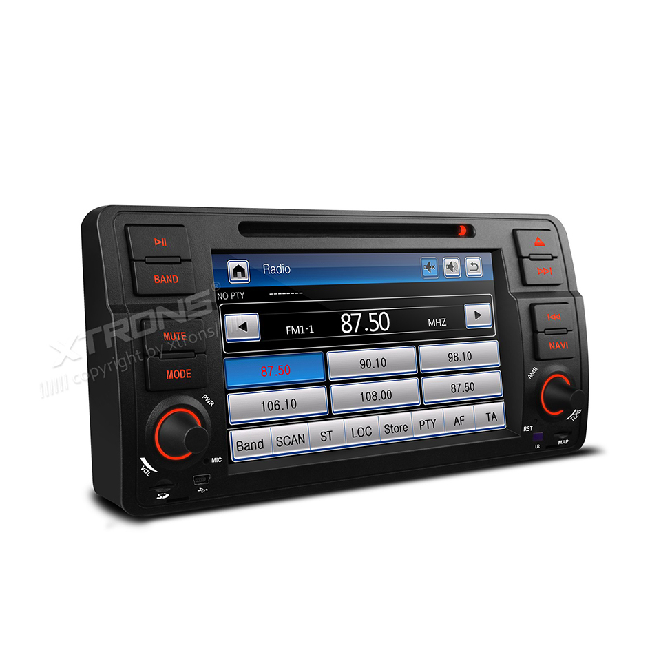 7 Single 1 Din Car DVD Radio GPS Navi Fit For E46 320 325 Auto Video Player Dual Channel CANbus Touch Screen Audio USB Stereo image