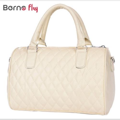 2017 hot sale woman fashion PU leather handbags Vintage solid Zipper messenger bags Top handlebags