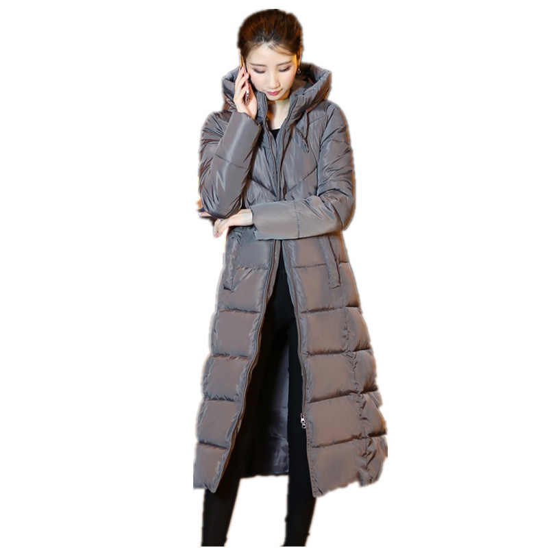 New 2018 Woman Winter Jacket Coat Down   Parka   Plus Size Long Warm Hooded Coat Thickening Snow Wear Wadded Padded Jacket