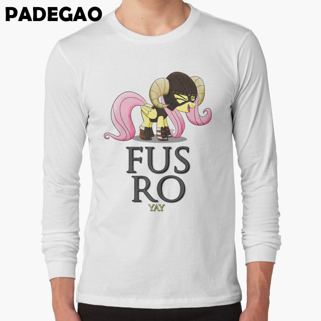31d8b1fc738e0 FUS RO yay (My Little Pony  Fr Cartoon printed Japan style Tee Shirt White  long sleeve O-neck t-shirts plus size S-3XL R001-CR