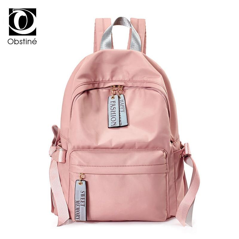 4f39b9746948 Водонепроницаемый Оксфорд школьный рюкзак для девочек подростков милые  рюкзаки лук Для женщин USB Зарядное устройство ноутбук Bagpack женский  розовый Back ...
