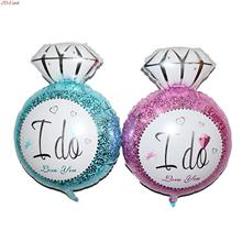 "Diamond Ring Type ""I DO"" Foil Balloons For Party Wedding Birthday Decoration Tool kids toys ballon"