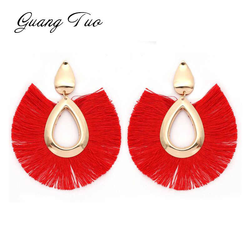 19 Colors Bohemia Fan Tassel Earrings Waterdrop Vintage Tassel Dangles Earring Fashion Jewelry Fringe Earrings For Women ES2127