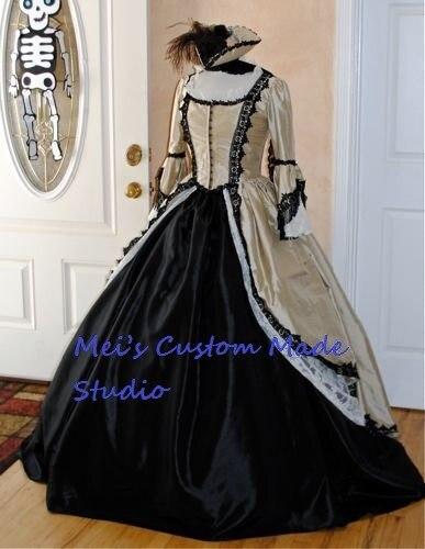 Custom made gothique steampunk pirate marie antoinette robe/période dress/théâtre et de mariée dress/événement dress